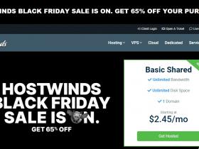 #黑五#Hostwinds:全场3.5折促销,便宜美国VPS服务器,按小时计费、提供Windows、可支付宝付款