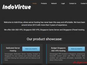 IndoVirtue:新加坡VPS服务器促销,大陆三网直连线路,延迟低速度快/价格便宜