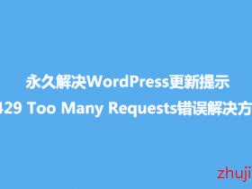 彻底解决WordPress更新/插件更新失败 提示429 Too Many Requests问题的办法