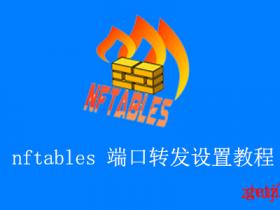 Linux下使用nftables进行端口转发教程,支持DDNS动态IP/端口段转发设置